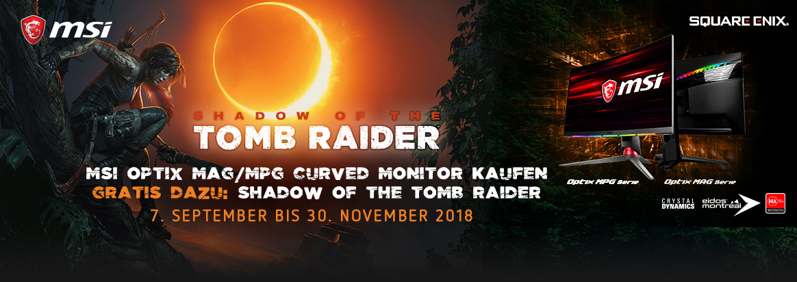 MSI Curved Gaming Monitore mitShadow of the Tomb Raider