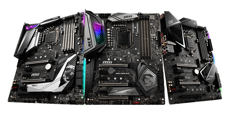 MSI Z390 / X470 Gaming Mainboards