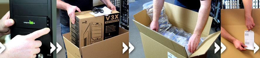Systemverpackung und Versandabwicklung